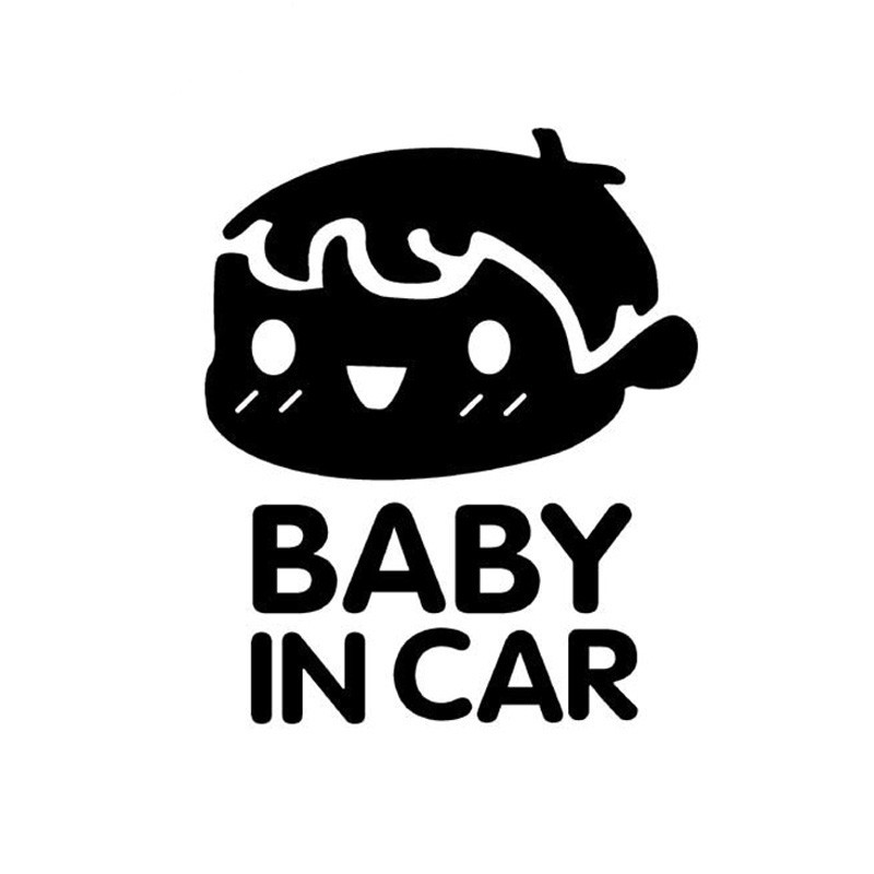 Image 5 - 10 Pieces 11*14CM BABY IN CAR Tail Warning Stickers Rear Car Stickers Baby In The Car Baby BOY Pattern Car Styling Black White-in Car Stickers from Automobiles & Motorcycles
