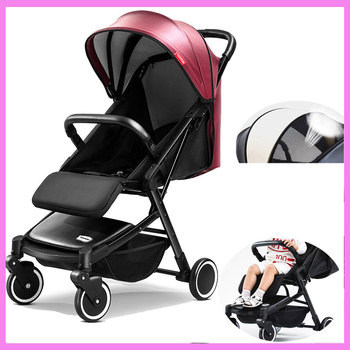Luxury Baby Stroller Light Can Sit Lie Portable Trolley Travel Car Folding Baby Umbrella Carriage Pram Buggy Pushchair 0~3Y