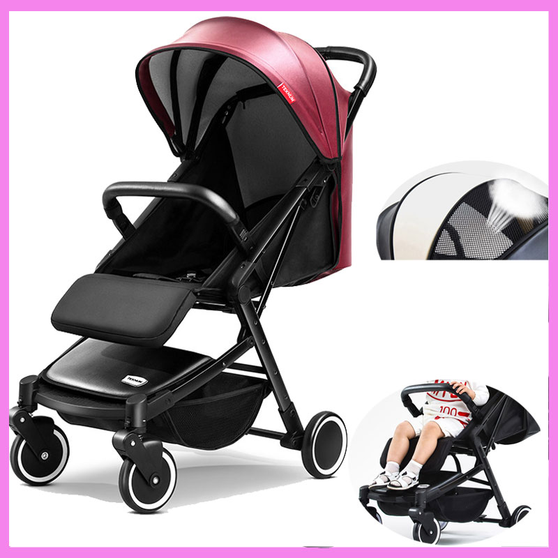 Luxury Baby Stroller Light Can Sit Lie Portable Trolley Travel Car Folding Baby Umbrella Carriage Pram Buggy Pushchair 0~3Y super lightweight folding baby stroller child pushchair umbrella portable travel baby carriage baby pram poussette kinderwagen