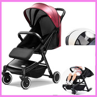 Luxury Baby Stroller Light Can Sit Lie Portable Trolley Travel Car Folding Baby Umbrella Carriage Pram Buggy Pushchair 0~3Y