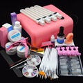 2015 Hotsale 36W UV Lamp UV Gels Degeaser liquid Gel Set clearnser plus Tips False Finger Nail Kit primer Nail Art Tool Kit Sets
