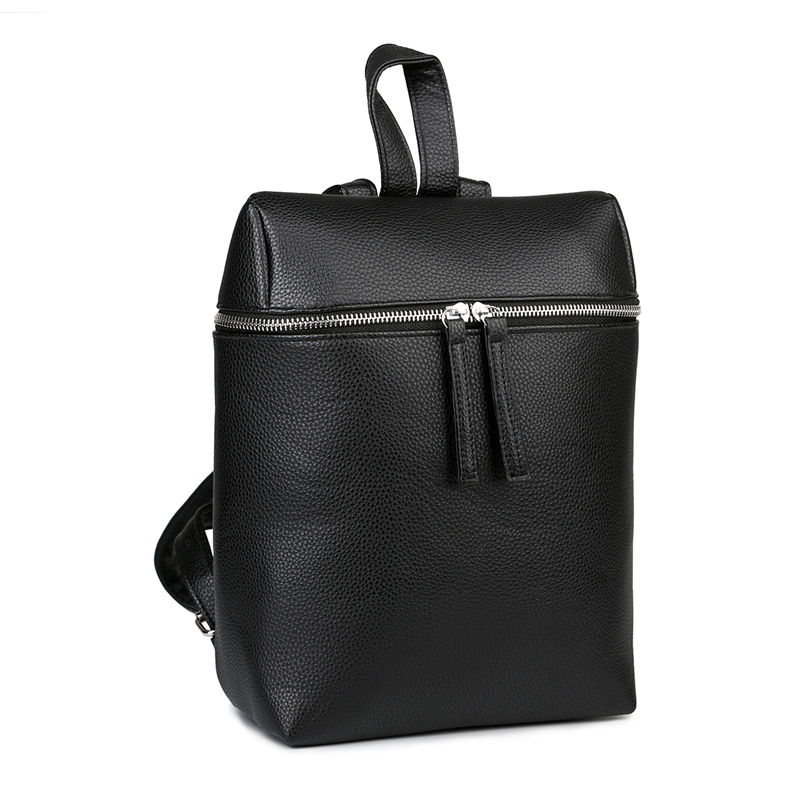 Simple Style Designer Women Backpack White and Black Lady Travel PU Leather Backpacks Fashion Female Rucksack bag Mochila XA666H