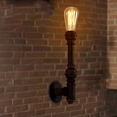 Nordic Loft Industrial Edison Wall Sconce Vintage Wall Light Fixtures For Home Antique Iron Water Pipe Lamp Indoor Lighting nordic loft style industrial water pipe lamp vintage wall light for home antique bedside edison wall sconce indoor lighting