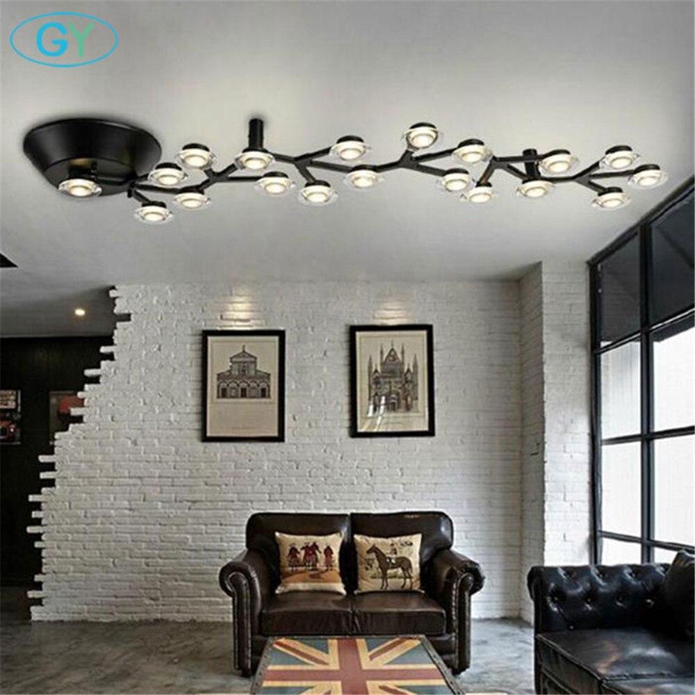 AC100-240V branco led luzes de teto arte moderna design árvore ramo lamparas de techo lustres teto luminaria luminária