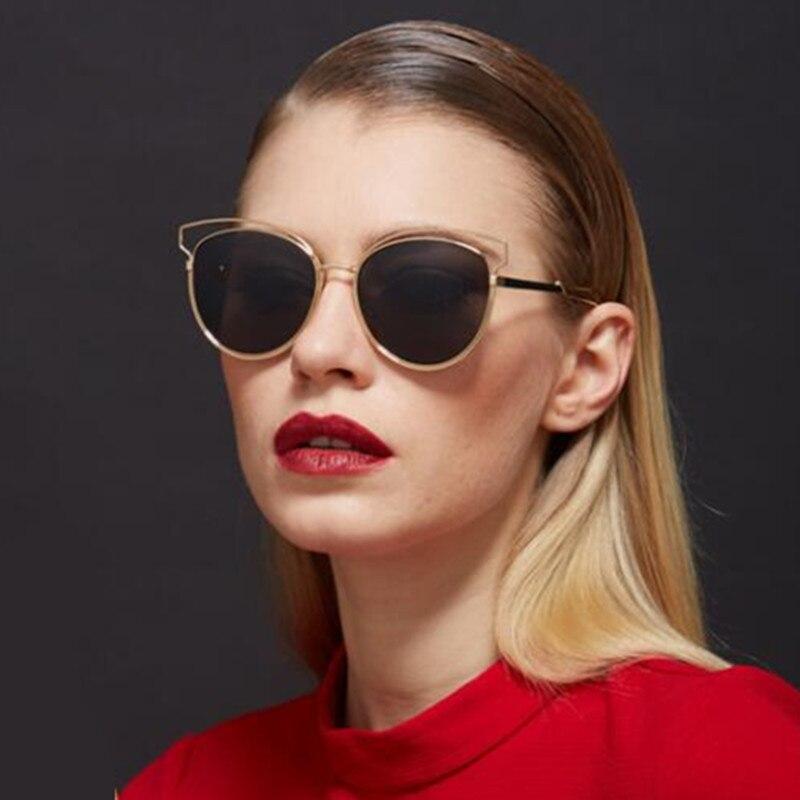 REALSTAR 2018 Metal Retro Cat Eye Sunglasses Women Luxury Brand Designer Vintage Pink Rose Sun Glasses Female Shades Oculos S61