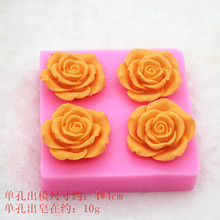 rose flower hand made soap mold chocolate mould fondant silica gel