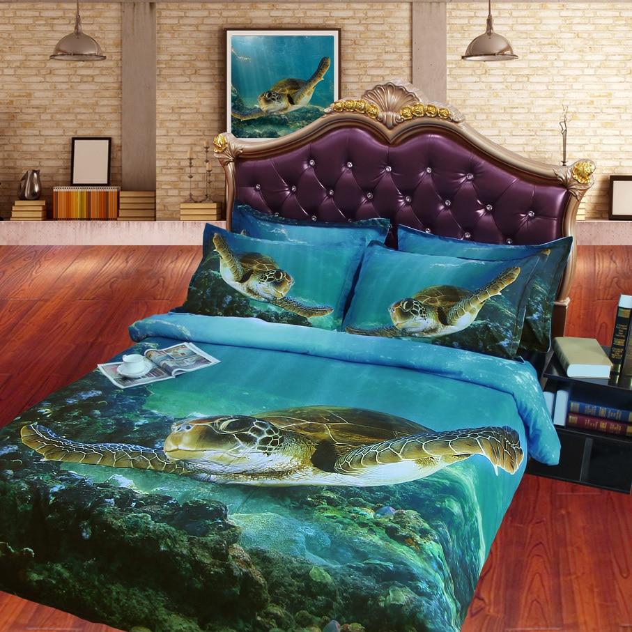 Home & Garden 3d Deep Sea Gloden Sunrise Printed Blue Duvet Cover Set 3 Pieces With 2 Pillowcase Microfiber Bedding Set Family Bed Linen Set In Short Supply Bedding