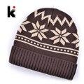 2015 gorras sombreros de invierno máscara de esquí beanie gorros de lana de punto , además de terciopelo rasta casquillo de copo de nieve bonete gorro men