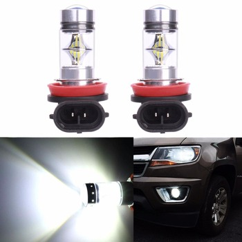 2Pcs Fog Driving/DRL Bombillas luz blanca Lampara Coche 100W H7 H8 H11 9005 9006 H10 H9 LED White Car Moto Faro Light Lamp Bulbs image
