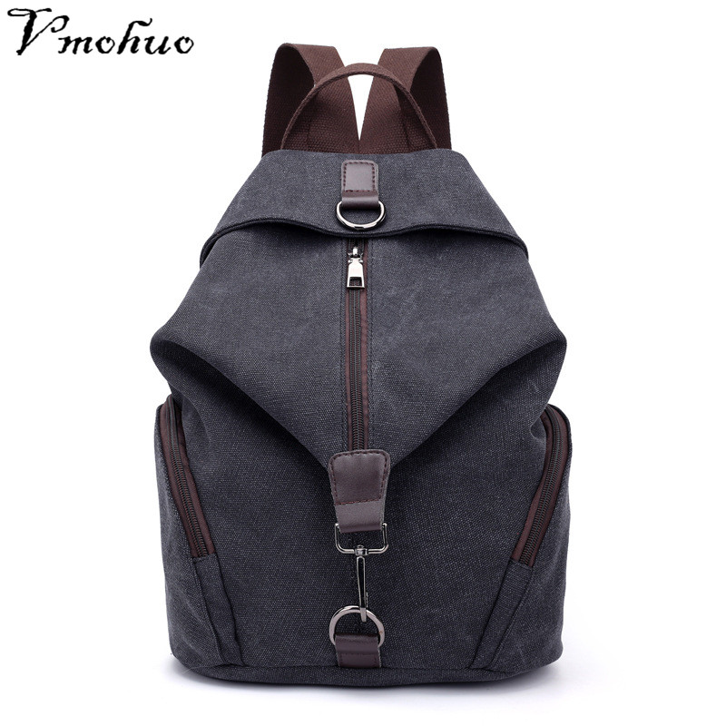 VMOHUO Vintage Canvas Women Backpacks Fashion Travel Backpack for Teenager Girls Student School Bag Casual Rucksack Female 2018 цена