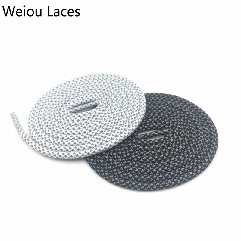 (30pairs/lot)Weiou Reflective Sports Shoelace Safty 3M Ultra Boost 350 Running Latchet Plastic Shoe Lace Tips For Men Women Kids