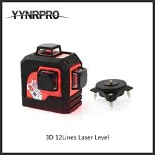 11.11 продажа 3D 12 Красные линии MW-93T 3D 12 линий лазерный уровень, наливные 360 по горизонтали, вертикальный крест супер мощный