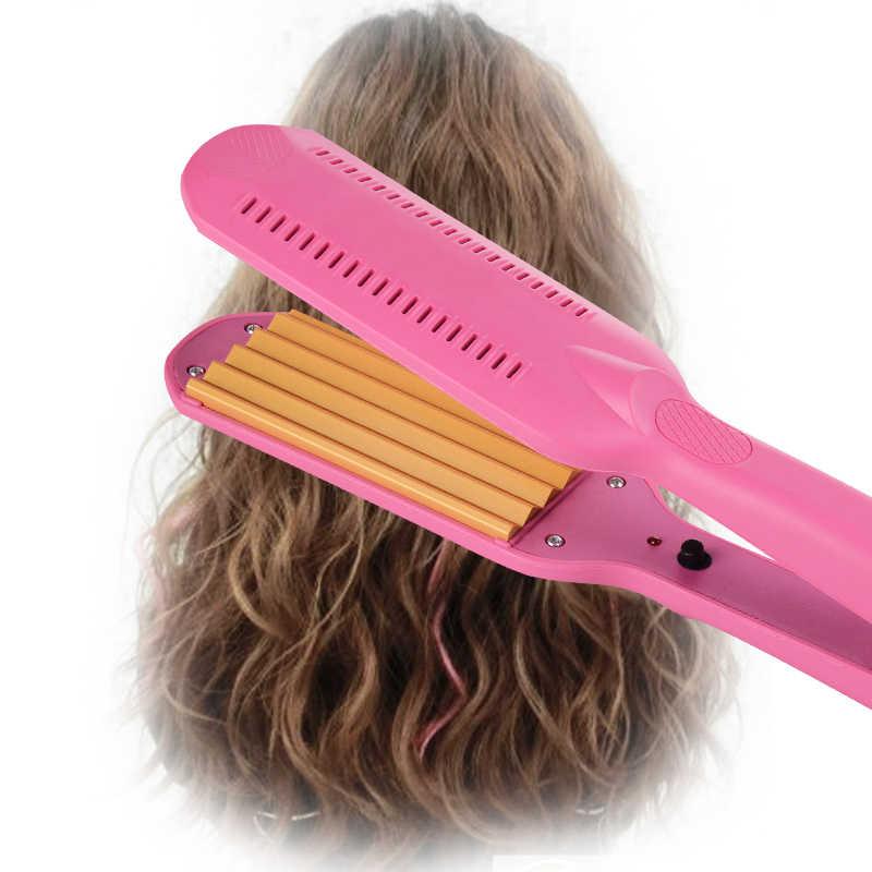 WENYI профессиональные щипцы Керамические Гофрированные щипцы для завивки волос выпрямитель широкий выпрямитель для волос волнистые волосы