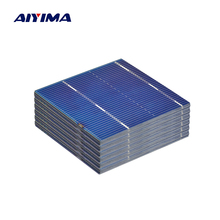 AIYIMA 100Pcs Solar Panel Solars Cell 52x52MM 0.5V 0.46W Color Crystal Solar Module DIY Battery Charger Sun Power Bank
