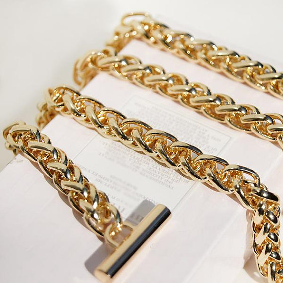 High Quality Gold Purse Chain, Metal Shoulder Handbag Strap With Snap Hooks Metal Obag Handle Accessories Dropshipping Chain