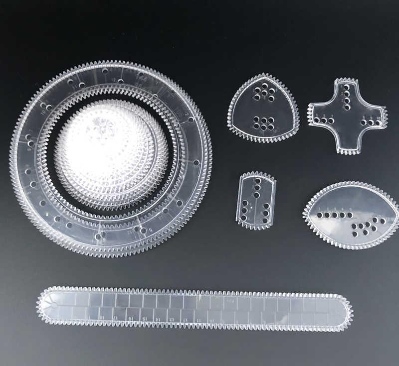 22pcs Spirograph วาดชุดของเล่น Interlocking Gears ล้อวาดภาพวาดอุปกรณ์เสริมความคิดสร้างสรรค์ของเล่นเพื่อการศึกษา Spirographs