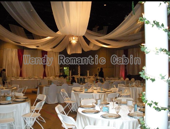 16 m longueur x 14 m large 8 pcslot de mariage plafond drap de - Tenture Plafond Mariage