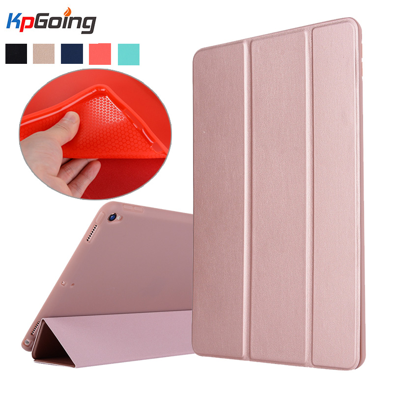KpGoing For Apple iPad Pro 10.5 Case PU Leather Silicone TPU Cover Folio Stand Case for iPad Pro 10.5 Silicon Tablet Fundas official original 1 1 case cover for apple ipad pro 12 9 2017 cases tpu smart clear cover for ipad pro ipad plus 12 9 2015 case