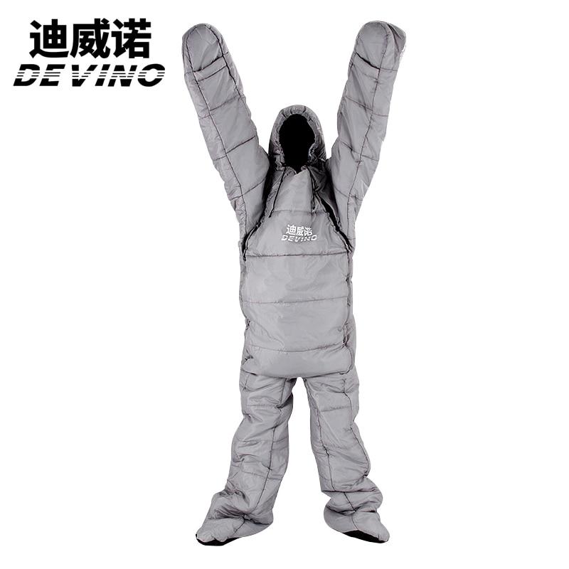 Devino Splicing Mummy Single Sleeping Bag Cotton Leg Split ...