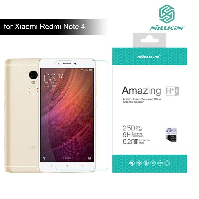 Redmi Note 4 Nillkin 9 H Incroyable H/H + Pro 5.5 pouce trempé Protecteur D'écran En Verre Pour Xiaomi Redmi Note 4 Pro Premier Verre