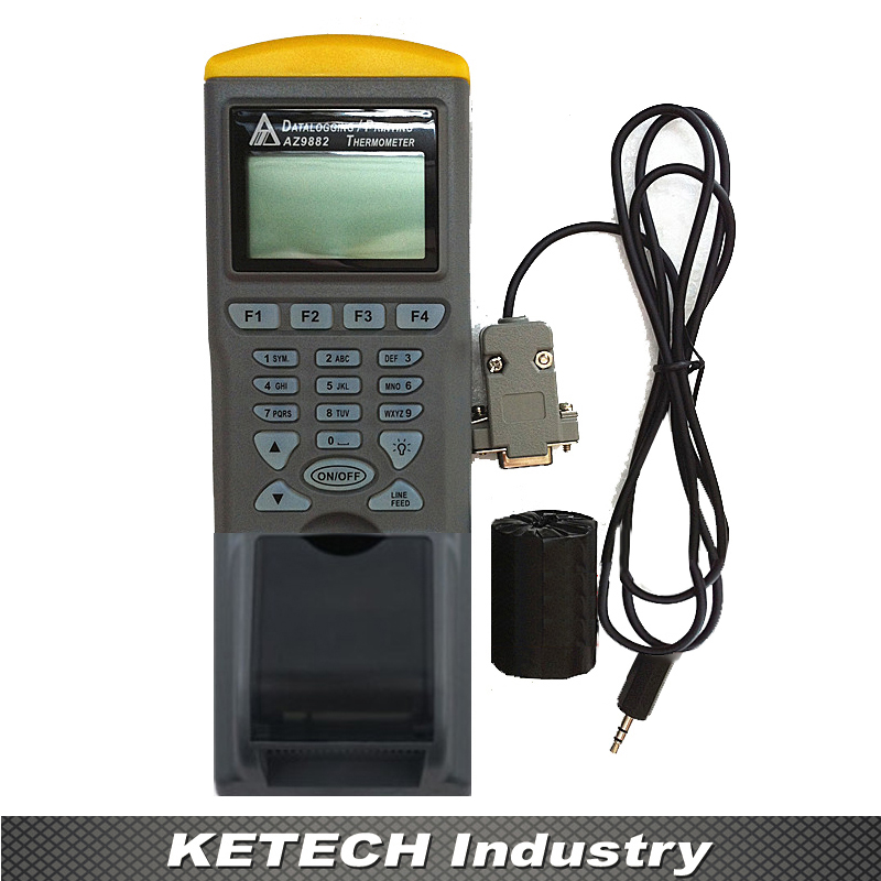 AZ-9882 Handheld Dual Input Industrial Thermocouple Recorder with Printer