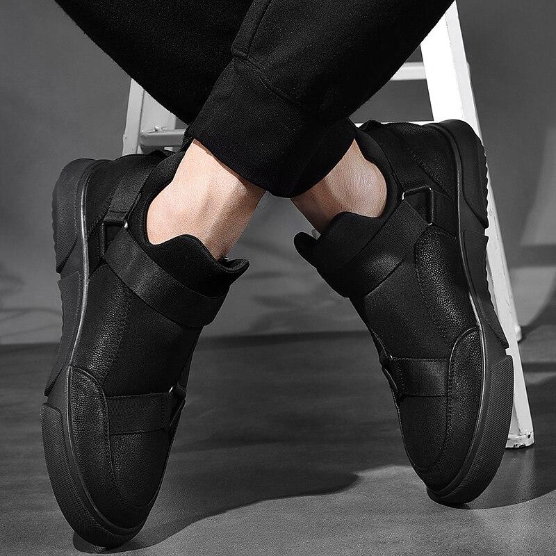 Véritable Cuir Mocassins Plate white Black Homme De 2019 Casual Offre En Black Pour Nouveaux Hommes All Spéciale Chaussures Noir Mode forme On Classique Slip fqqw806Z