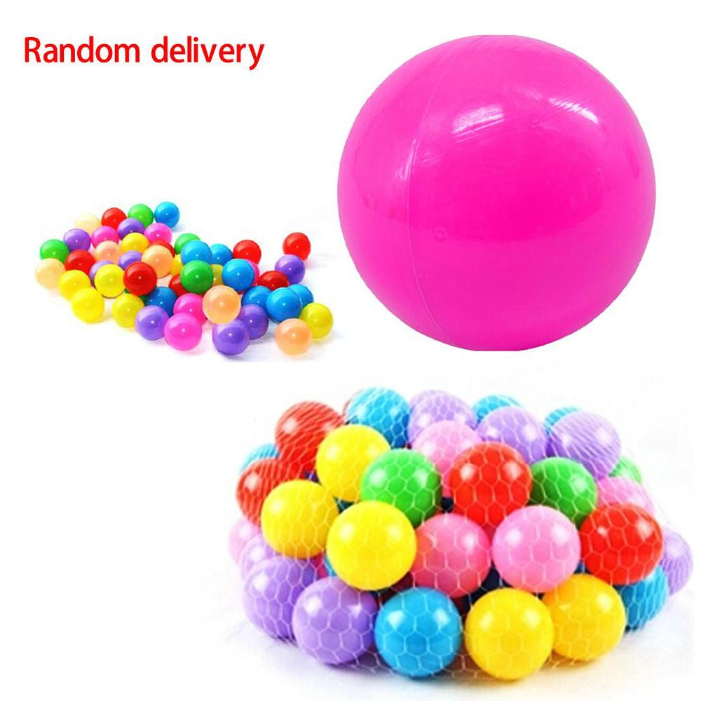 5.5cm Children's Toys Colored Marine Ball Game Balls 10pcs/lot colorful plastic gifts for kids