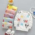 2017 nova Primavera camisas do bebê meninos e meninas sweatershirts crianças 0-3years clothingDD06