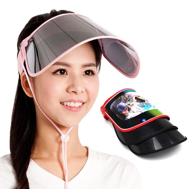 Outdoor Anti-UV Sun Protection Visor Cap Hat Hiking Outdoor Wide Brim Hat  Women Summer Sport Golf Tennis Baseball Caps Gift e95d168d7c8