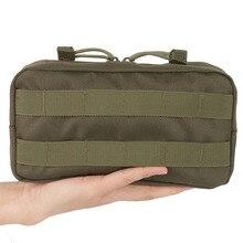 Открытый путешествия выживания шестерни EDC Molle Чехол Военный Инструмент падения сумка Тактический, для жилета, для страйкбола мелочи камеры журнал сумка