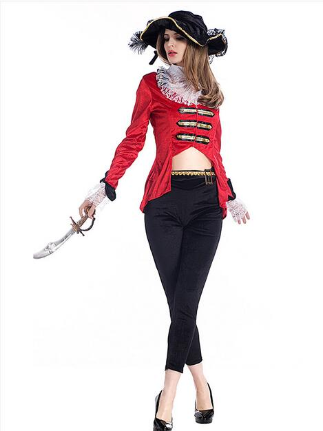 Hot selling Cosplay party pirates of the Caribbean clothes black role-playing women sexy uniform carnival halloween costume