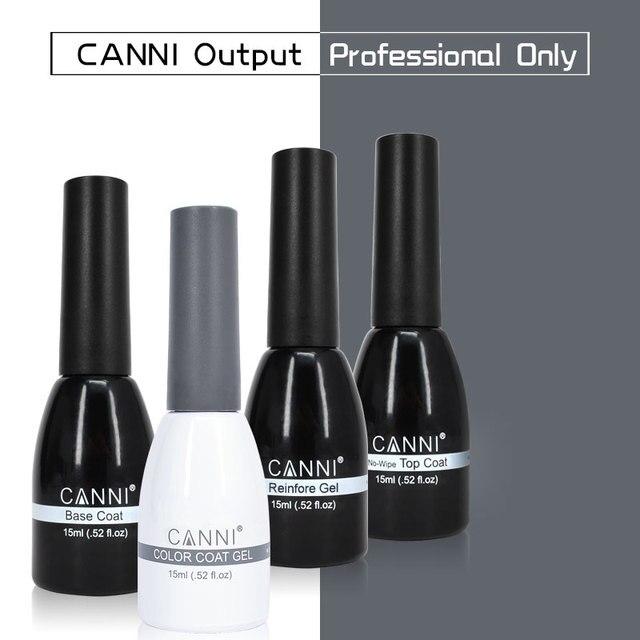 CANNI Gel Varnish Enamel 240 Color 15ml Odorless Organic Long Lasting Base Coat No-wipe Topcoat Reinforce UV LED Nail Gel Polish