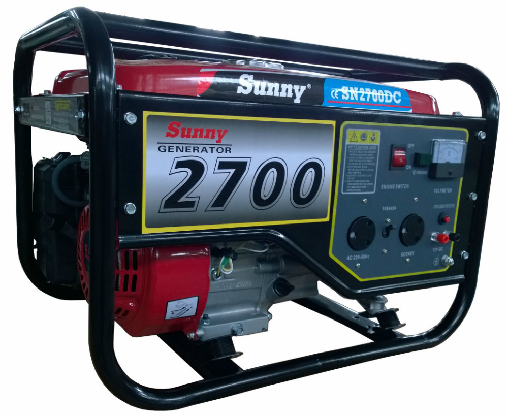 hot sales South Africa market sunny brand 2kw Rated Power Gasoline Generator (sn2700) with CE and Soncap Certificate