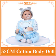 22inch 55cm Silicone baby reborn dolls, lifelike doll reborn babies toys for girl pink princess gift brinquedos for childs
