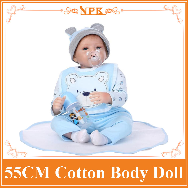 22inch 55cm Silicone baby reborn dolls, lifelike doll reborn babies toys for girl pink princess gift brinquedos for childs free shipping hot sale real silicon baby dolls 55cm 22inch npk brand lifelike lovely reborn dolls babies toys for children gift