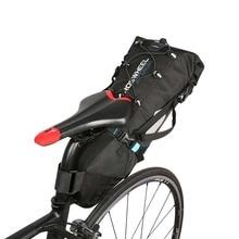 цена на Rear Seat Bicycle Bag Waterproof Tail Package Black Nylon MTB Mountain Riding Travel Cycling Tail Bag Bike Tools Bag Accessories