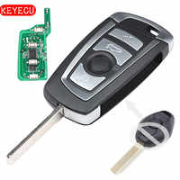 Keyecu CAS2 Modified Remote Key 4 Button 315/ 315LP/ 433/ 868MHZ PCF7942 for BMW E60 5 Series, E63 6 Series 2004-2016,KR55WK47