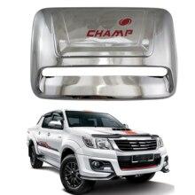 цена на New Red Font car parts Car Accessories ABS Chrome Bonnet Hood Parts For Toyota Hilux VIGO 2005-2014 Automobile hood