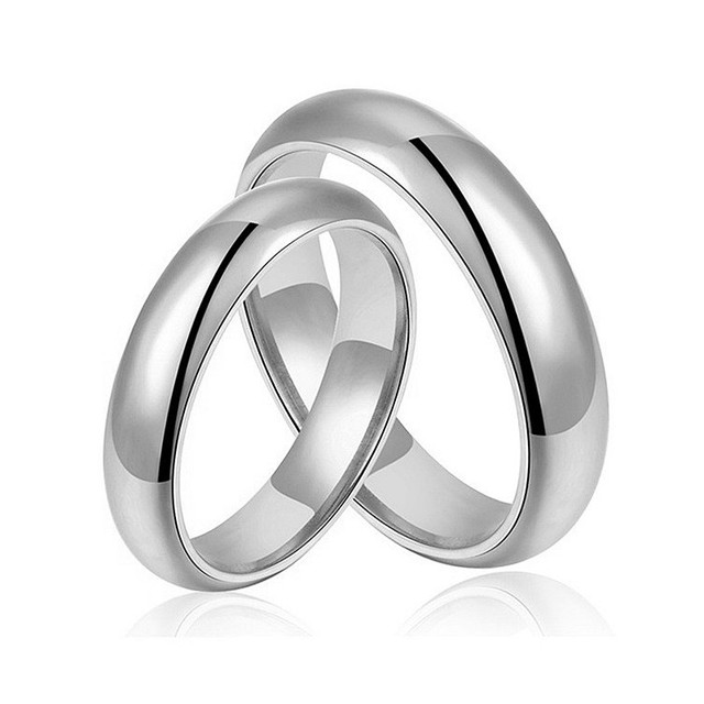 Aliexpress.com : Buy Stainless Steel Couples Wedding Rings Promise ...