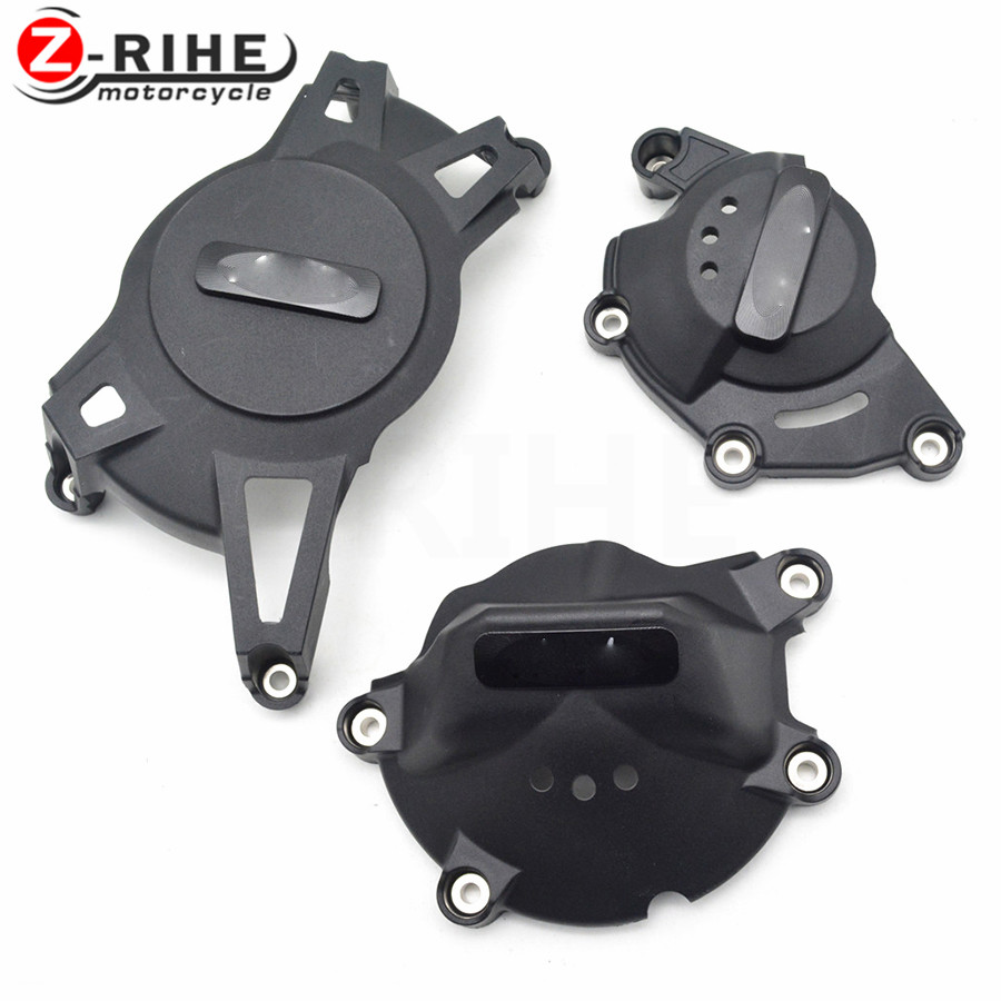 FOR 1SET 2017 New CNC Aluminum&ABS Motorcycle Engine Protective Cover Accessories For Kawasaki Ninja 500R EX500 650R EX650 ER-6F