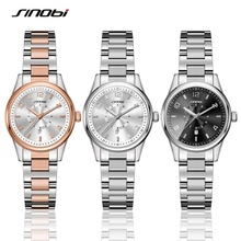 Ladies Top Brand Crystal Luxury Female Wrist Watch SINOBI Ro
