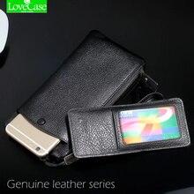 100% натуральная кожа телефон сумка Универсальный 1.0 «~ 6» для Iphone 4 4s 5 5S 5C SE 6 6 S 7 Plus Huawei P9 P10 mate9 кошелек Дело