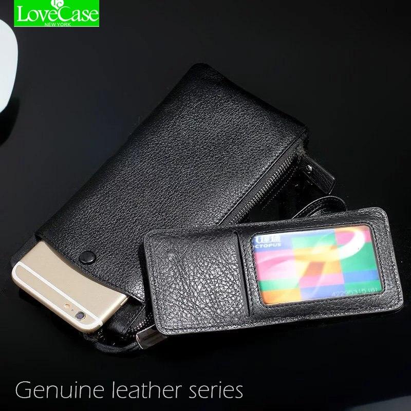 LoveCase 100% Genuíno saco do telefone de couro Universal 1.0