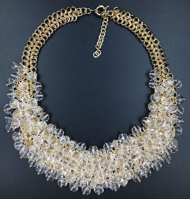 Women Crystal Statement Necklace