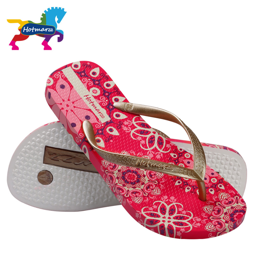 0dd56932286 Hotmarzz Women Bohemia Slippers Ladies Floral Flip Flops Summer Fashion  Beach Sandals Slides Shoes-in Flip Flops from Shoes on Aliexpress.com