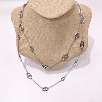 Hot brand H jewelry Farandole necklace H lock necklace pig nose horse shape sweater chain luxury famous brand jewelry