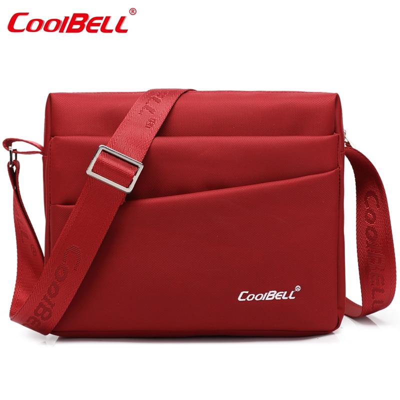 CoolBell 8.9 inch Tablet Laptop Bag for iPad Mini Waterproof Men Women Crossbody Bag Shoulder Messenger Bag
