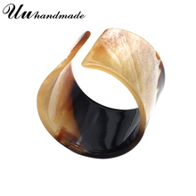 New wood grain acrylic wide cuff bracelet for women bracelets & bangles indian jewelry carter viking love bangle bracelet joyas new luxury cuff design high qualtiy carter bracelets