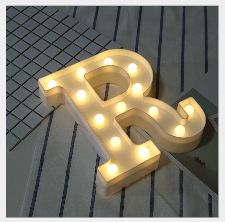 ღ Ƹ̵̡Ӝ̵̨̄Ʒ ღLetter Light Alphabet Letter Lights Led 3D Letter Lamp ...