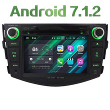 "7"" Quad Core HD Android 7.1.2 2GB RAM 3G/4G DAB+ SWC Wifi Multimedia Car DVD Player Stereo Radio GPS for Toyota RAV4 2006-2012"